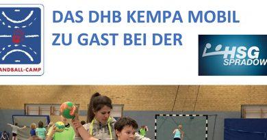 HSG Jugendtag: DHB Kempa-Mobil am 7.7. in Spradow