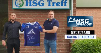 Kacha Chaduneli spielt für die HSG Spradow